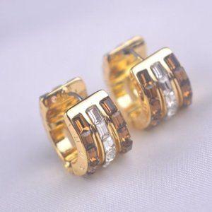 Henri Bendel Brown Zircon Earrings